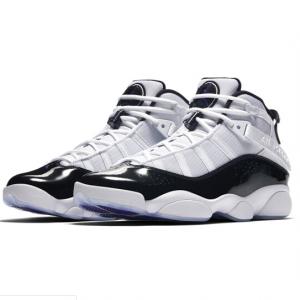 Eastbay官网 Jordan乔丹6 Rings大童款黑白奥利奥色篮球鞋热卖